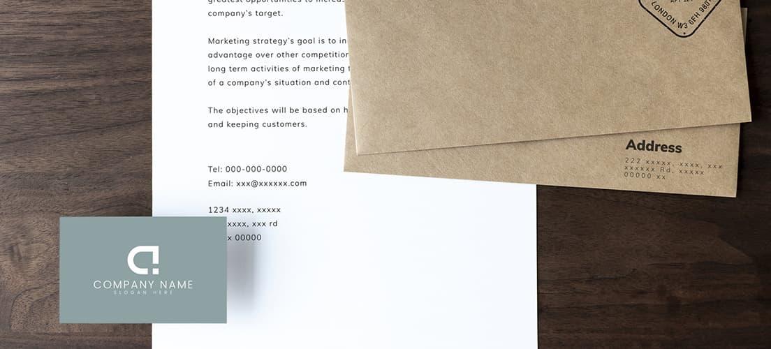 名刺・封筒への展開